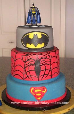 Wondrous Coolest Superhero Birthday Cake Personalised Birthday Cards Veneteletsinfo
