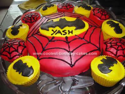 Homemade Superhero Birthday Cake