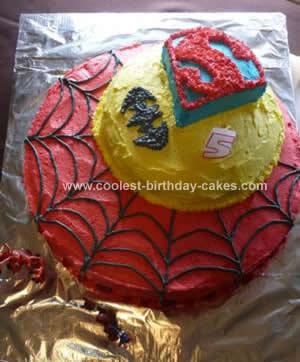 Homemade Superhero Trio Cake