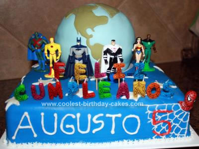 Coolest Superheroes Protecting Earth Cake