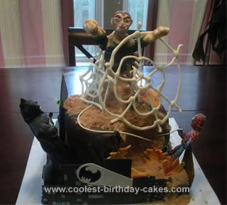 Homemade Superheros Birthday Cake