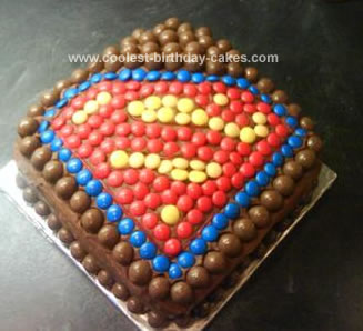 Coolest superman cake for Superman template for cake