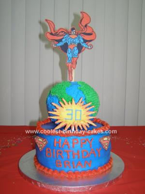 Homemade Superman Cake