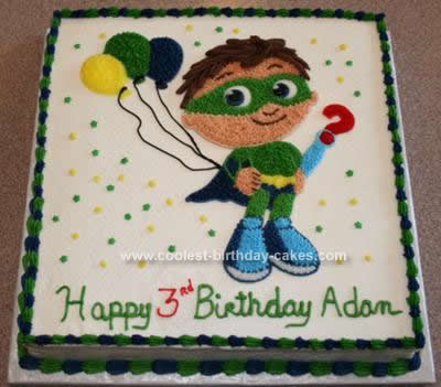 Peachy Coolest Homemade Super Why Cakes Funny Birthday Cards Online Elaedamsfinfo