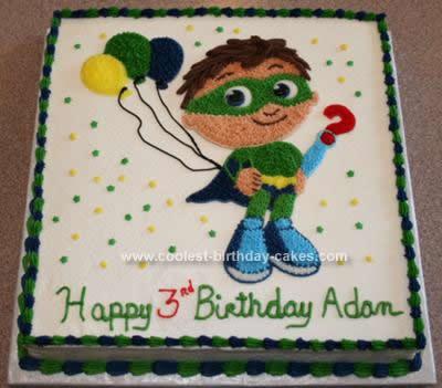Homemade SuperWhy! Birthday Cake
