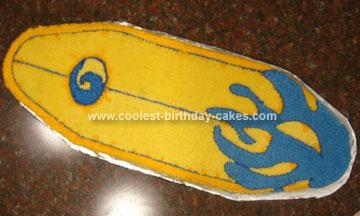 Homamade Surfboard Cake