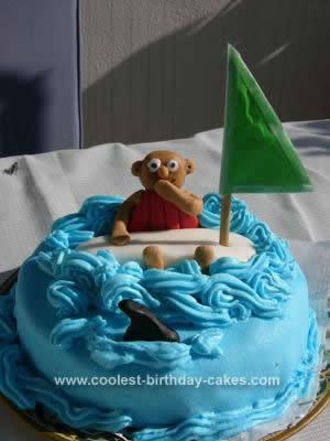Homemade  Surfer Birthday Cake