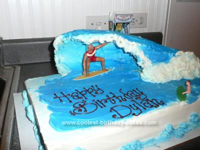 Homemade Surfer Cake
