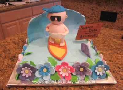 Homemade Surfer Dude Cake