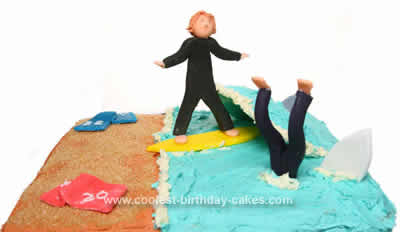 Homemade Surfers Cake