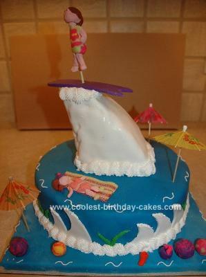 Homemade Surfing Birthday Cake