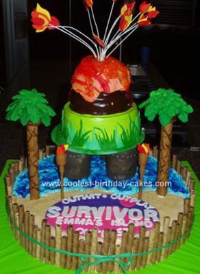 Homemade Survivor Birthday Cake
