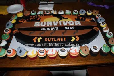 Homemade Survivor Theme Cake