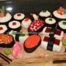Homemade Sushi Birthday Cake
