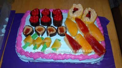Homemade Sushi Cake Design