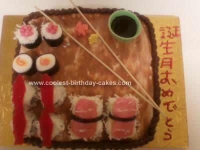 Homemade Sushi Cake Idea