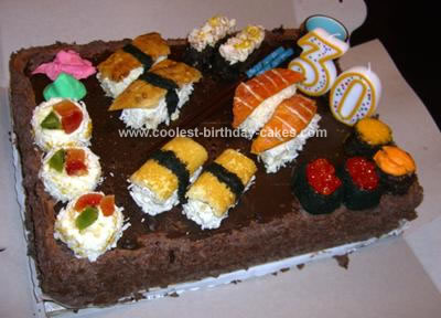 Sushi Candy Birthday Cake