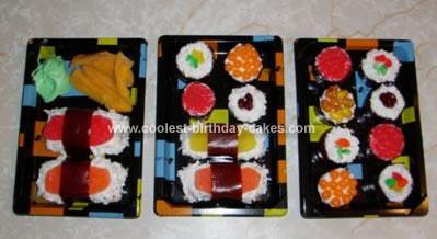 Homemade Sushi Cupcakes