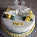 Homemade Swan Birthday Cake