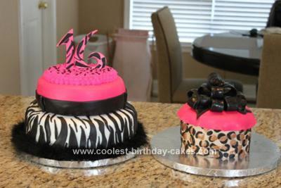 Homemade Sweet 16 Birthday Cake
