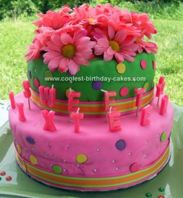 Homemade Sweet 16 Cake