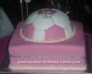 Homemade Sweet 16th Soccer Cake