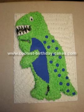 Green T-Rex Cake