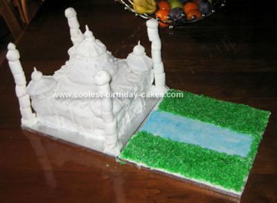 Homemade Taj Mahal Cake