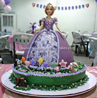 Amazing Coolest Tangled Birthday Cake Funny Birthday Cards Online Overcheapnameinfo