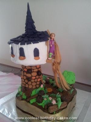 Homemade Tangled Cake