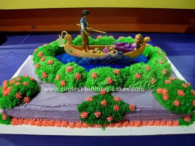 Homemade Tangled Cake with Flynn Rider and Rapunzel