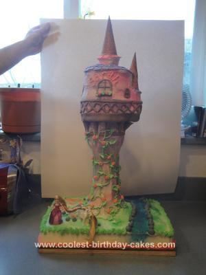 Homemade Tangled Castle Cake
