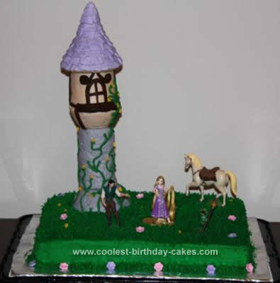 Homemade Tangled (Rapunzel) Birthday Cake