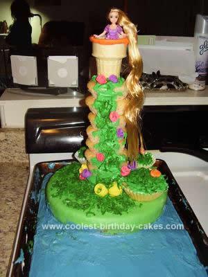 Homemade Tangled Tower Cake
