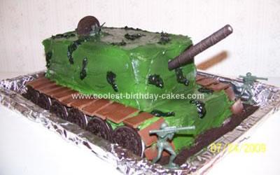 Fantastic Coolest Tank Birthday Cake Funny Birthday Cards Online Elaedamsfinfo