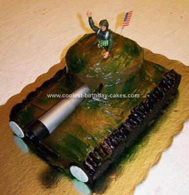 Homemade Tank Birthday Cake