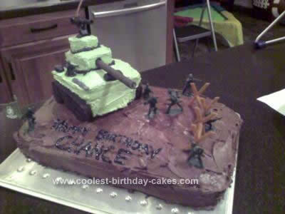 Homemade Tank/Military Birthday Cake