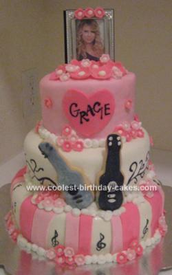 Homemade Taylor Swift Birthday Cake