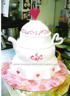 Homemade Tea Kettle Bridal Shower Cake