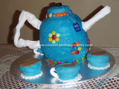 Homemade Tea Pot Cake