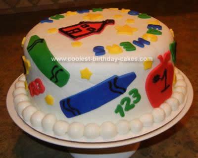 Homemade Teacher Appreciation Cake Design