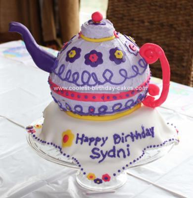 Sydni's Teapot Birthday Cake