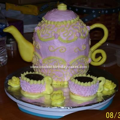 Pleasant Coolest Teapot Birthday Cake Personalised Birthday Cards Cominlily Jamesorg