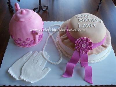Homemade Teapot and Hat Birthday Cake