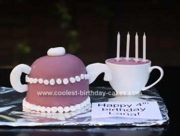 Sensational Coolest Teapot Birthday Cake Personalised Birthday Cards Cominlily Jamesorg