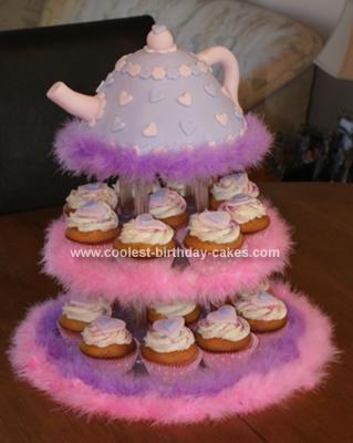 Homemade Teapot Cake and Cupcakes