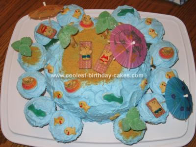 Homemade Teddy Beach Cake