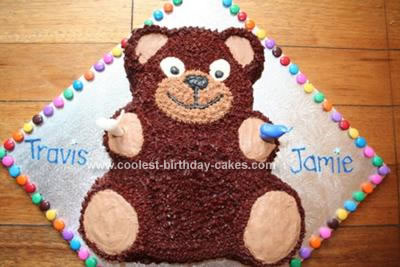 Homemade Teddy Bear Birthday Cake