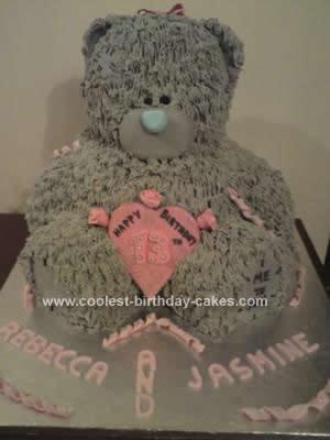 Homemade Teddy Bear Birthday Cake
