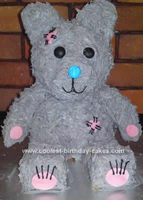 Homemade Teddy Bear Cake